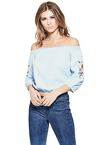 GUESS Factory Women's Rubee Off-The-Shoulder (Cinched Waist Top)