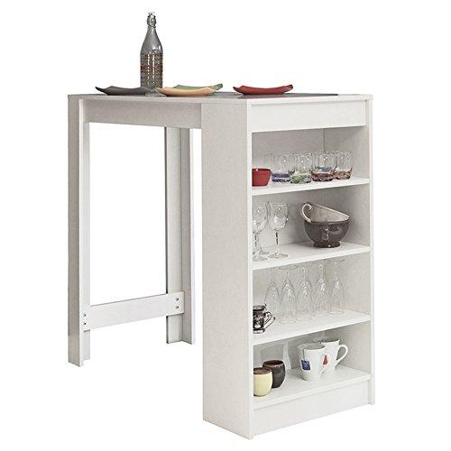 Symbiosis 8080A2100x 00Zeitgenössische Tisch Bar mit Stauraum, Weiß 115x 50x 102,7cm