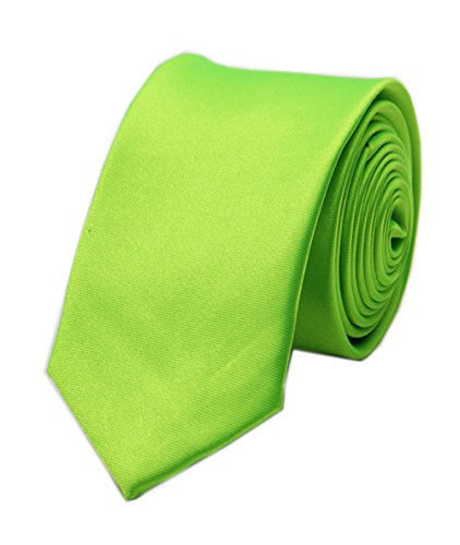 Lime Green Necktie (Men's Lime Green Solid Woven Silk Long Tie HANDMADE Luxury Formal Suit Necktie)