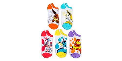 Pokemon Ladies and Juniors 5 Pk No Show Socks Photo