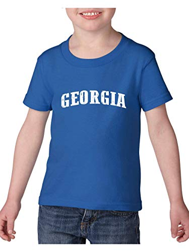 Georgia State Flag Atlanta Traveler`s Gift Toddler Heavy Cotton Kids Tee (3TRB) Royal -