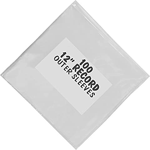 ACKO Vinyl Record Protection Sleeve For 12 Inch, Thick Outer Sleeve Clear Polyethylene Record Sleeve Pack of 100
