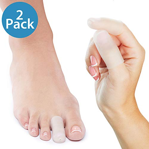 - NatraCure Gel Toe Cap and Finger Protector - 1 Pair - (Size: Small/Medium) - Helps Cushion and Reduce Pain from Corns, Blisters, Hammer Toes, and Ingrown Nails