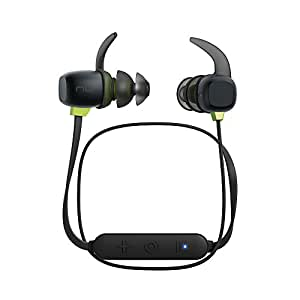 Optoma NuForce BE Sport4 Magnetic Wireless Earbuds Bluetooth Earphone with 10h battery, sweat proof, AAC + aptX, 15 mins Quick Charge, graphene drivers,Black