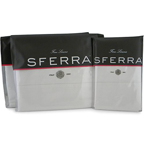 - Sferra Celeste Sheet Set (Queen, White)