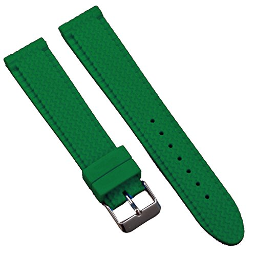 New Sport Green Silicone Rubber Tire-Tread Watch Strap Band with S/S Buckle 24mm