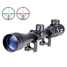 Pinty3-9X40 Red Green Mil-Dot Illuminated Optics Sniper Rifle Telescopic Scope