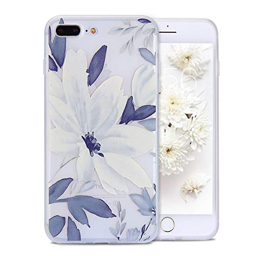 FGA iPhone 8 Plus Case, iPhone 7 Plus Cute Case for Girls, White