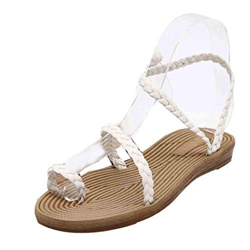 verano mujeres Sandalias Sandalias la del de vestir de de de las playa Blanco las sandalias Ouneed wCpTwAPFxq
