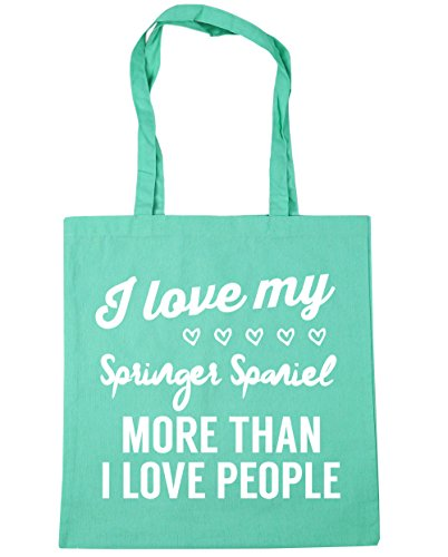 litres Gym Beach my x38cm love Shopping Mint spaniel than 42cm Bag I Tote love I 10 more people springer HippoWarehouse wU744B