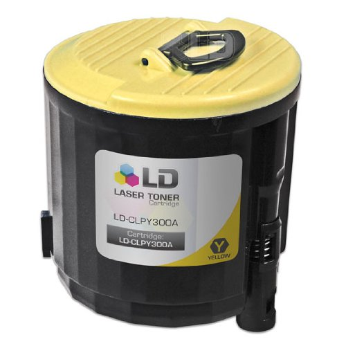 LD Compatible Replacement CLP-Y300A Yellow Laser Toner Cartridge for use in Samsung CLP-300, CLP-300N, CLX-2160, CLX-3160 Printers