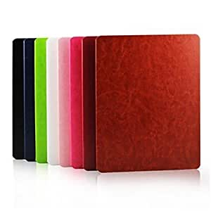 get 360 Degree Rotating Stand Solid Color PU Leather Case for iPad 2/3/4 , Rose