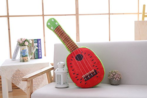 Watermelon guitar 65 centimeters Yancyong Guitar Fruit Pillow,Watermelon Guitar 65 Centimeters