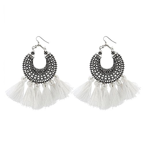 TOOGOO(R) Beauty Earrings Women Long Tassel Fringe Dangle Earrings Jewelry Fashion Sale Pink Kq8m9X