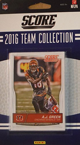 (Cincinnati Bengals 2016 Score EXCLUSIVE Factory Sealed Team Set with Andy Dalton, A.J. Green and others plus Rookies)