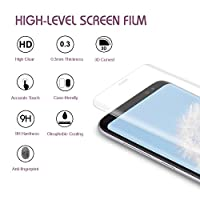 Bestfy Samsung S8 Screen Protector, Shatterproof Full Coverage Tempered Glass Film for Galaxy S8, Clear from Bestfy
