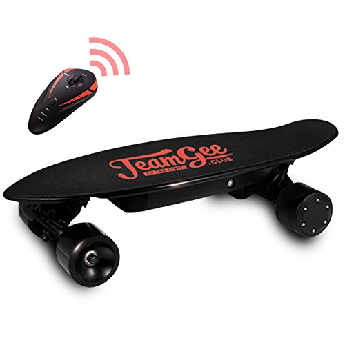 Teamgee 23'' Cruiser Electric Skateboard, 350w 1800rpm Motor, 36V 2.2Ah Battery, Single Drive with Remote Control