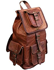 20 Vintage Bag Leather Handmade Vintage Style Backpack/College Bag