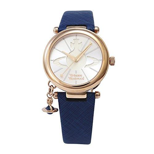 Vivienne Westwood watch ORB POP silver dial blue leather Quartz VV006RSBL Ladies
