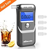 Breathalyzer, Portable Digital Breath Alcohol Tester LED Screen with 5 Mouthpieces