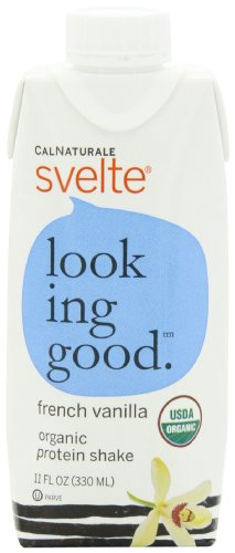 CalNaturale Svelte Organic Protein Shake, French Vanilla, 11 Ounce Aseptic Boxes (Pack of 12)