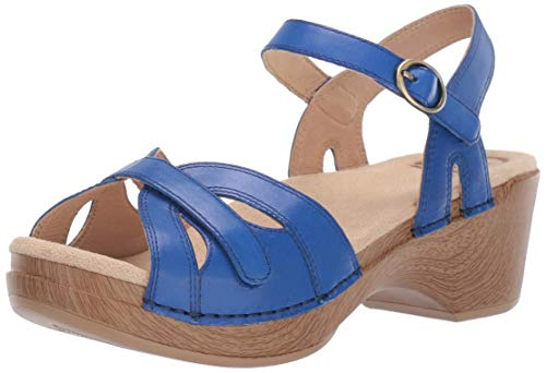 (Dansko Women's Season Sandal, Cobalt Burnished Calf, 40 M EU (9.5-10 US))