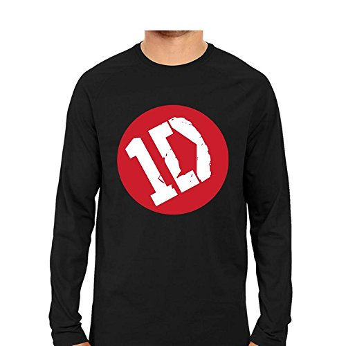 17f9bf5e1512 Edgy One Direction 1D Mens Full Sleeve Ribbed Crewneck Cool Graphic Print  T-Shirt Black