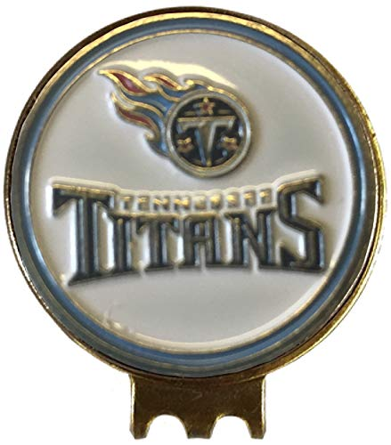 (Tennessee Titans Golf Ball Marker ON HAT Clip Brass Gift IDEA NFL)