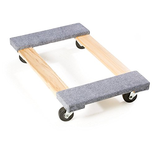Harper Trucks WFD1830 800 lb Capacity Hardwood Furniture and Mover's Dolly with Carpet Ends and 30'' x 18'' x 5'' Deck by Harper Trucks