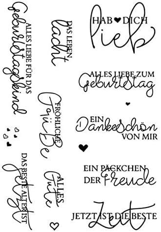 Frohe Ostern transparente Stempel Silikon Stempel DIY Scrapbooking Pr/ägung Papierkarten Home Decor Dabixx Klare Stempel