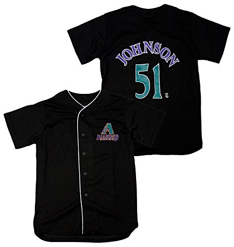 Mighty Mac Arizona Diamondbacks Randy Johnson #51 MLB Big Boys Vintage Replica Jersey, Black S 8
