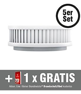 Befestigung per Magnet Wartungs-App Kleiner Brandmeister Made in Germany 10 Jahres-Batterie 6-er Set Rauchmelder Kleiner Brandmeister PX-1 inkl