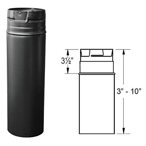DuraVent 3PVP-12AB 3'' Inner Diameter - PelletVent Pro Type L Chimney Pipe - Doub, Black