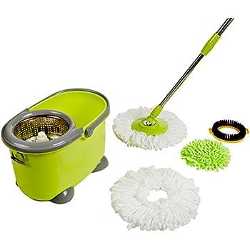 Amazon Com Woodsam Spin Mop Easy Magic Floor Bucket With