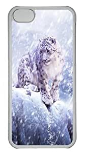 iPhone 5C Cases & Covers -Snow Leopard Hunting Custom PC Case Cover For iPhone 5C - Tranparent