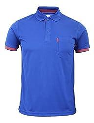 BCPOLO Men's Short Sleeve Polo shirt Pocket Polo Shirt DRI FIT T-Shirt-blue XS