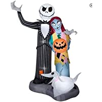Halloween 6-Ft. Tall Airblown Inflatable Nightmare Before Christmas Scene