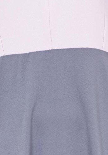 Muslim Long Abaya Coolred Dress Long Women Splice Sleeve Grey Dress q5ZqrtEwx