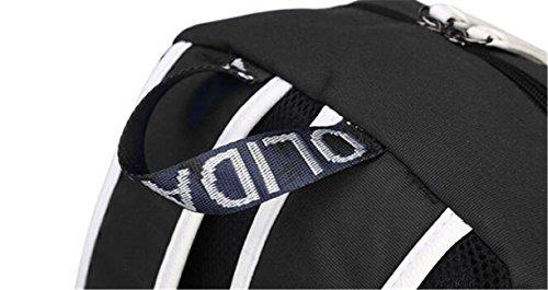JUSTGOGO Luminous Korean Casual Daypack Laptop Bag College Bag Book Bag School Bag Backpack (Black 1) by JUSTGOGO (Image #7)