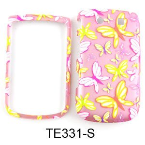 CELL PHONE CASE COVER FOR BLACKBERRY TORCH 9800 TRANS BUTTERFLIES ON LIGHT PINK (Skin Blackberry Torch)