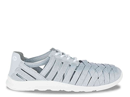Merrell Womens Light Grey Flora Kye Weave Slip-On Sneaker Shoes Size 5 M XP3LtmV