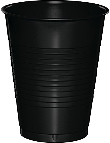 50-Count Touch of Color 16-Ounce Plastic Cups, Black Velvet