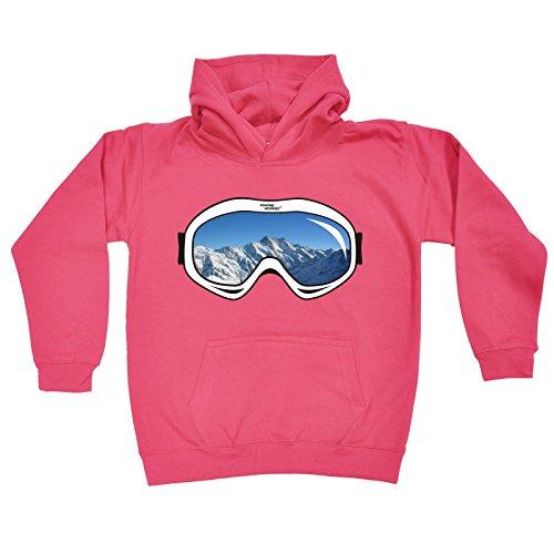 123t Kids Girl's SKI GOGGLES DESIGN (L-Age-9-11 - HOT PINK) - Uk Ski Goggles