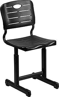 Flash Furniture Adjustable Height Black Student Chair With Pedestal Frame
