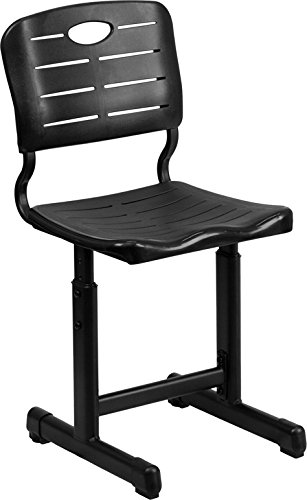 Flash Furniture Adjustable Height Black Student Chair with Black Pedestal Frame by Flash Furniture