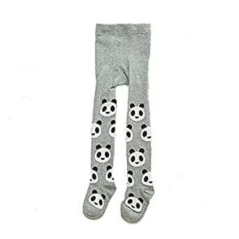 Ecosin Kid Toddlers Girl Tights Stretch Pantyhose Tights Panda Stockings (0~1Years, Gray)