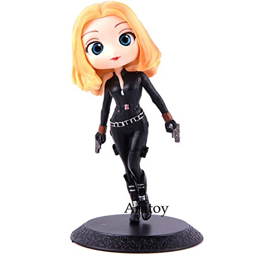 Agent Romanoff Hot (PUNIDAMAN Q Posket Captain Action Figure Natasha Romanoff Qposket PVC Collectible Model Toy Holiday Must Haves Gift Tags The Favourite Toddler Superhero Toy)