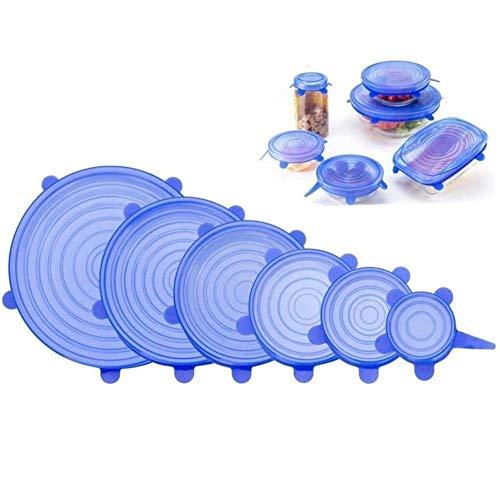 KAIFANG - Tapa elástica de silicona para cuencos, latas ...