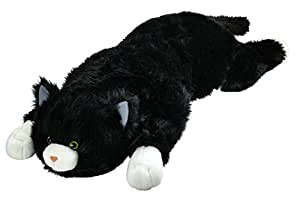 Super Soft Black and White Cat Body Pillow Bedtime Cuddly Plush Toy Animal Pet 3' L