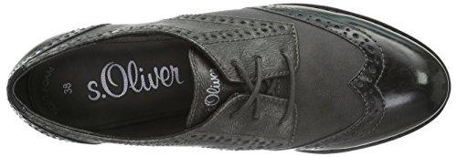 s.Oliver 23623, Zapatos de Vestir para Mujer Gris (GREY COMB 201)